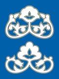 棉花-乌兹别克人样式 东方陶瓷 Pahta,Pahtagul 向量例证