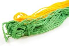 棉花绿色和黄色 库存图片