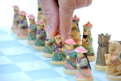 棋中国人部分 库存图片