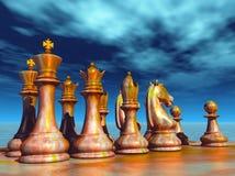 棋争斗 免版税库存图片