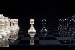 棋典当对峙状态 免版税库存图片