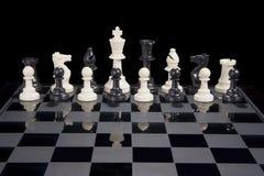 棋变化白色国王 库存照片