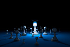 棋国家 领导棋隐喻 3d例证回报 免版税图库摄影