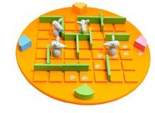 棋在白色隔绝的Quoridor孩子 免版税库存图片