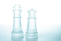 棋子国王和女王/王后 免版税图库摄影
