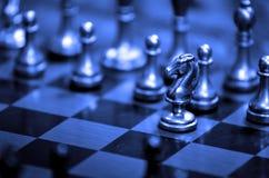 棋子在船上比赛和战略的 免版税库存照片