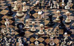 棋子从1970年在棋盘 免版税库存照片