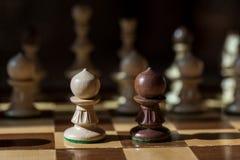 棋对峙一在一个 库存图片