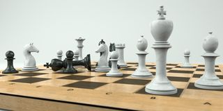 棋将死形成 向量例证