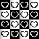 棋心脏无缝的背景 免版税图库摄影