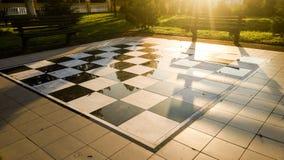 棋枰在中央公园 库存照片