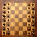 棋枰查出的对象空白木 库存图片