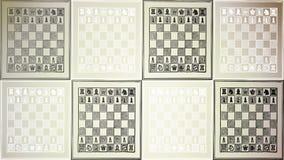 棋枰黑白 免版税库存图片