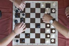 棋比赛马拉松 免版税图库摄影
