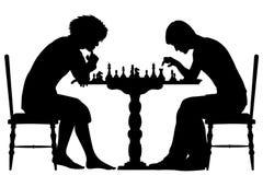 棋比赛 向量例证