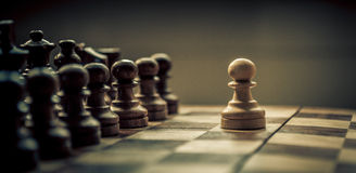棋比赛 免版税库存照片