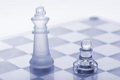 棋玻璃国王典当 库存照片