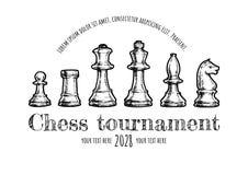 棋的例证 免版税库存照片