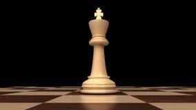 棋的强有力的国王 免版税库存图片