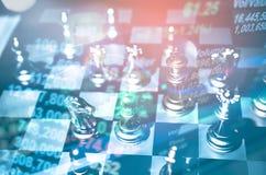 棋盘企业想法的比赛概念和竞争和战略计划 库存图片