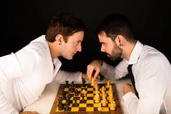 棋碰撞 库存照片