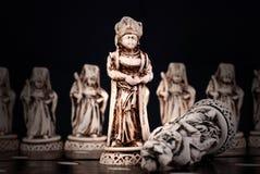 棋被击败的国王 库存照片