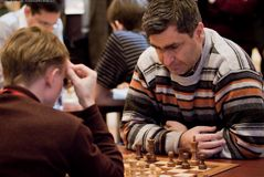 棋高段棋手ivanchuk乌克兰vasyliy 免版税库存图片