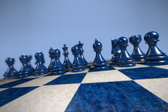 棋:readyForBattle 免版税图库摄影