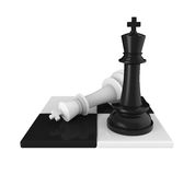 棋Pieces Checkmate国王 免版税库存照片