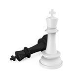 棋Pieces Checkmate国王 免版税库存图片