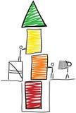 棍子形象修造塔 向量例证
