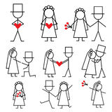 棍子形象婚礼 免版税图库摄影
