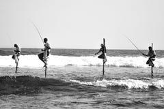 棍子渔夫 图库摄影