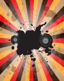 棍打音乐事件或海报的党flayer 向量例证