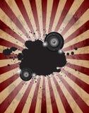 棍打音乐事件或海报的党flayer 皇族释放例证