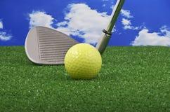 棍打高尔夫球铁 免版税库存照片