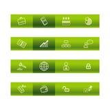 棒企业绿色图标 图库摄影