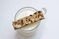 棒健身牛奶 免版税库存照片