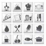 棒咖啡馆图标餐馆集 免版税库存照片