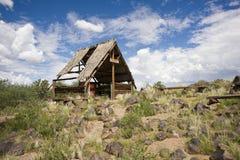 棒在石沙漠在纳米比亚 免版税图库摄影