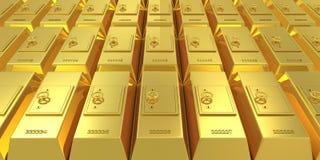 棒定金金黄安全 向量例证
