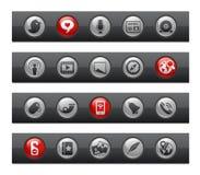 棒按钮媒体系列社交 库存图片