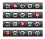 棒按钮界面系列 皇族释放例证