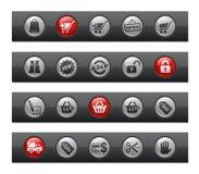 棒按钮系列购物 向量例证