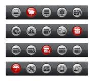 棒按钮网络系列服务器 库存例证