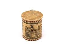 棒桦树碗做盐罐糖 图库摄影