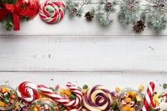 棒棒糖和糖果混合 图库摄影