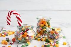 棒棒糖和糖果混合 免版税库存图片