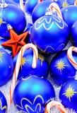 棒棒糖圣诞节装饰 免版税库存图片