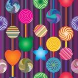 棒棒糖垂直的无缝的样式 免版税库存照片